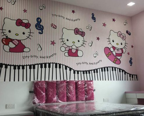 Hello kitty- Our Design for Johor customer