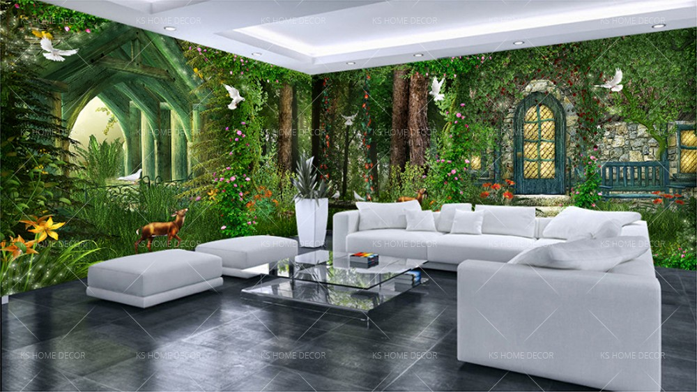 Forest House Theme Mural 15876900