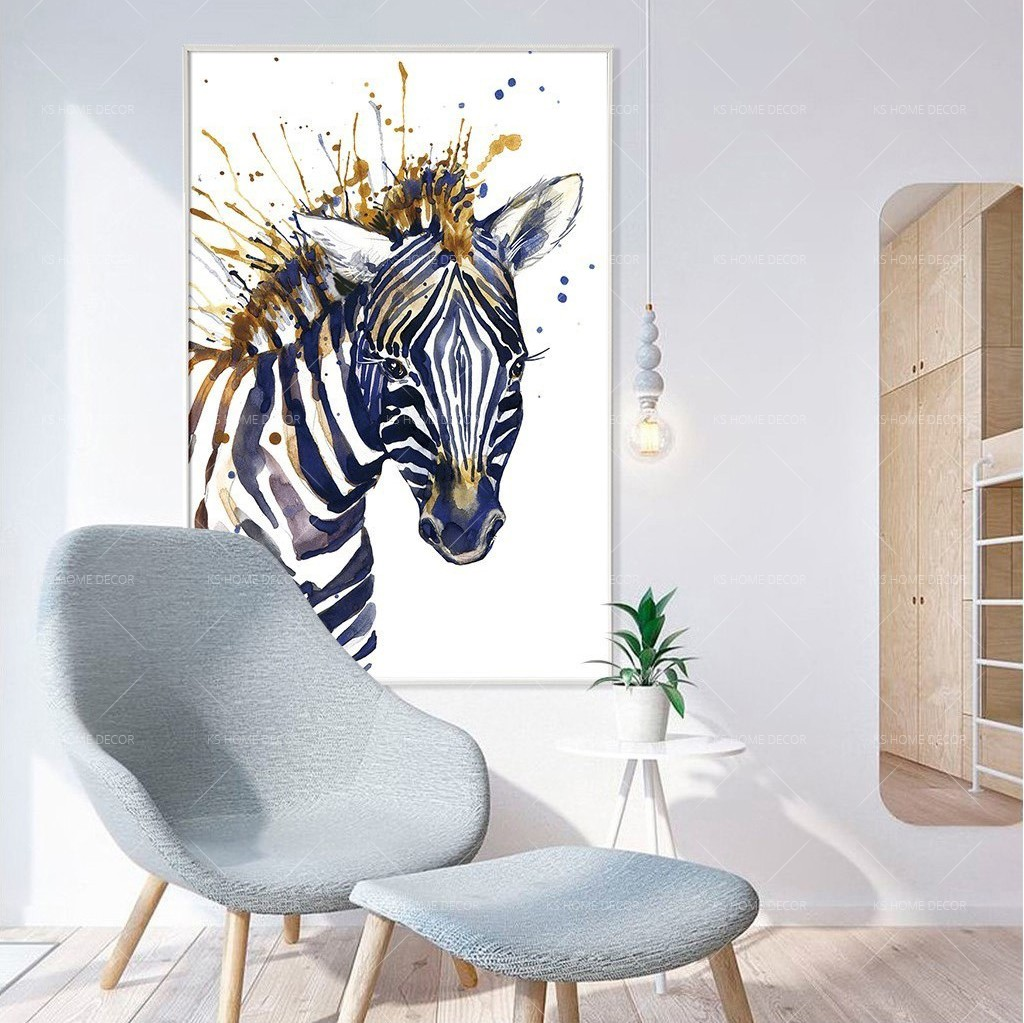 Zebra water colour painting animal wildlifes mural 16052020 customize wallpaper wall sticker