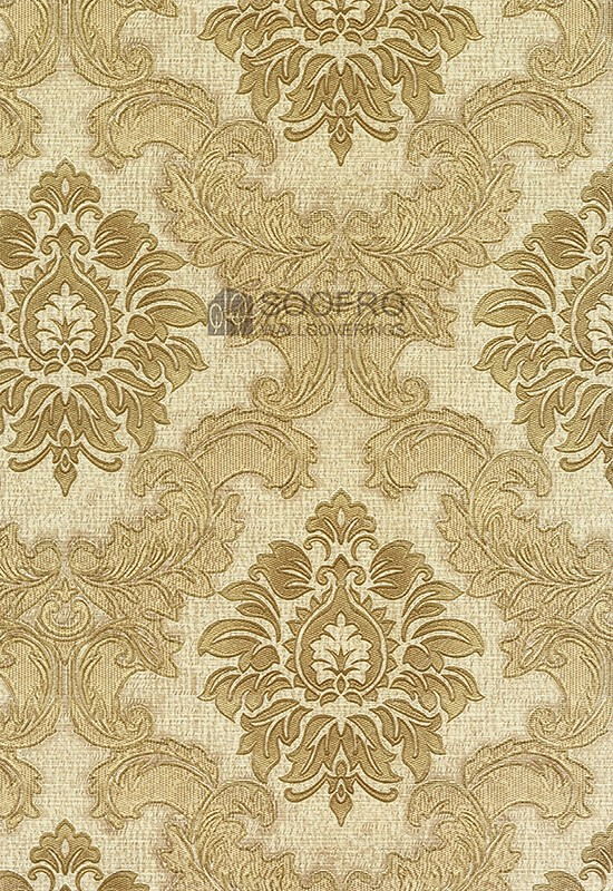 Gold Floral Pattern Vinyl Rhapsody Korea Wallpaper 8009 3