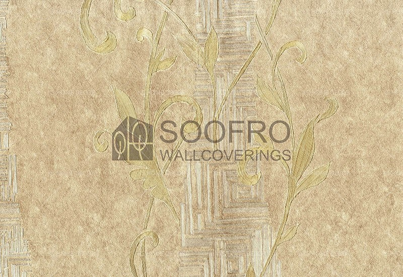 Gold Floral Pattern Rhapsody Korea Wallpaper 8024 3