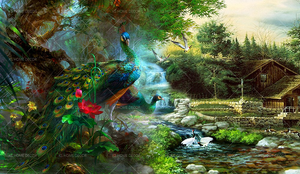 Nature Peacock 27114625 Customize Wallpaper Wall Sticker