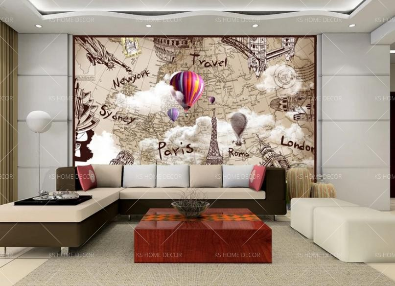 Best world map home wallpaper map murals customize wallpaper wall best world map home wallpaper map murals gumiabroncs Image collections
