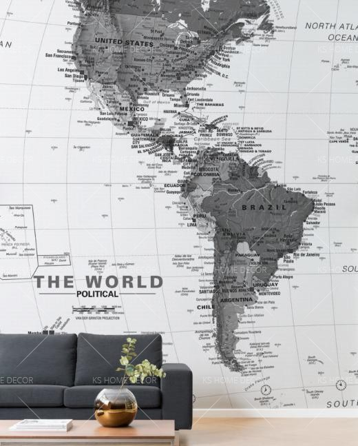 Customized wallpaper printing and wall sticker printing in malaysia wall living room ideas using feature wallpaper printing world map wallpaper printing gumiabroncs Gallery
