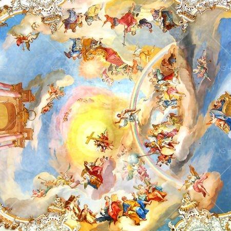 Angel Ceiling Wallpaper