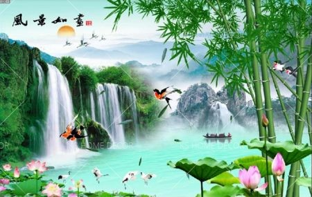 Feng shui wallpaper printing